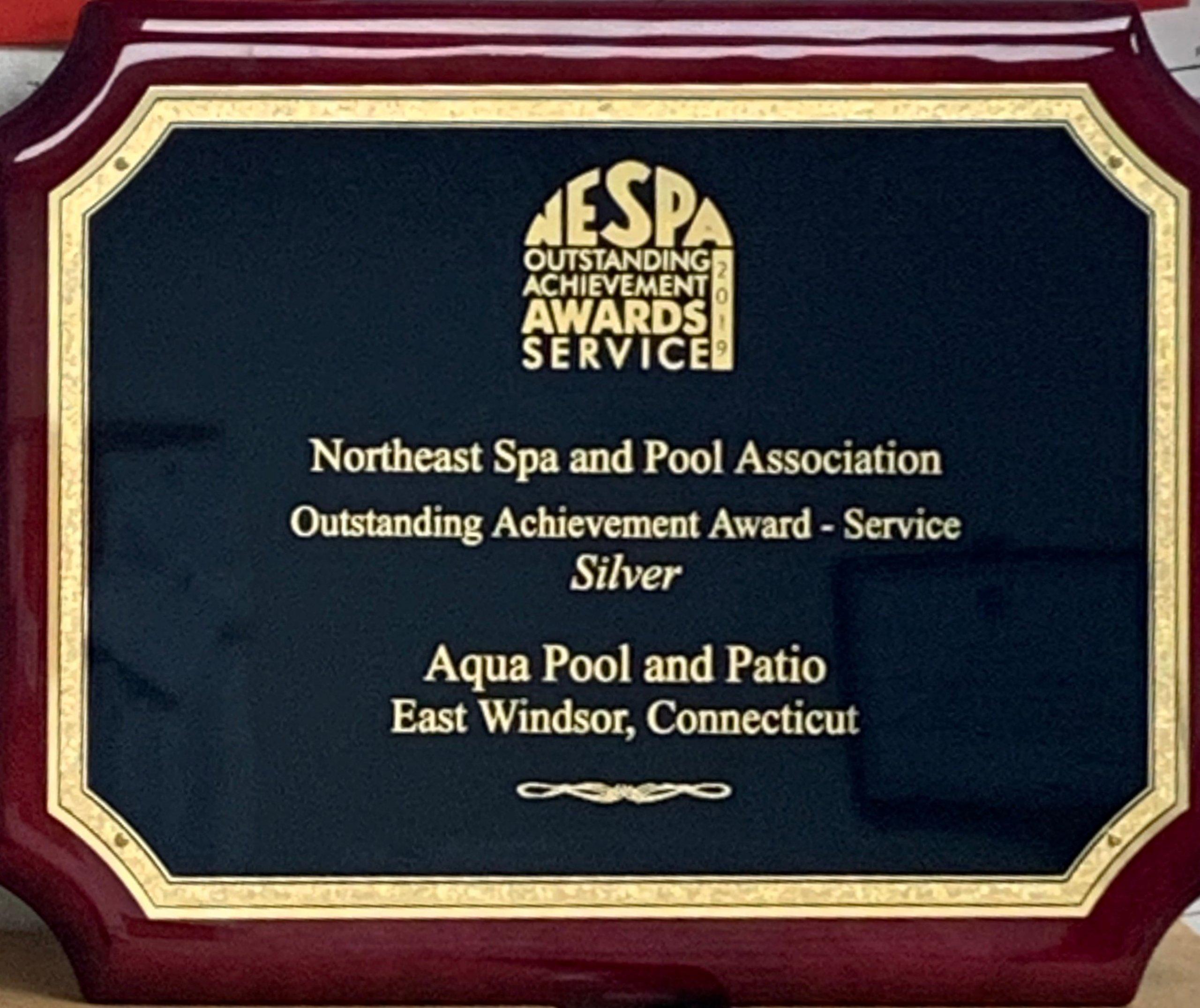 Aqua Pool Receives NESPA Outstanding Achievement Award